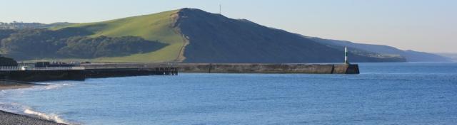 01 yesterday's walk down into Aberystwyth, Ruth's coastal trek