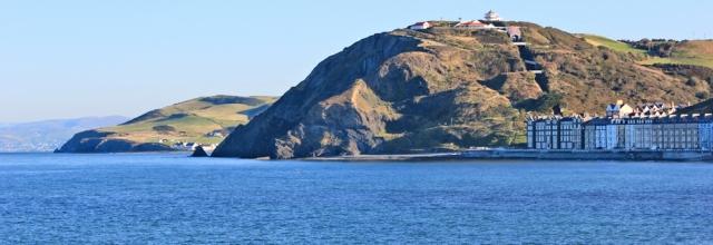 02 today's walk towards Borth, Ruth Livingstone on the Welsh coast