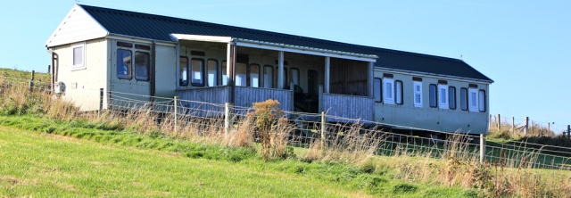 bungalows from railway carriages, Ruth Livingstone in Aberporth