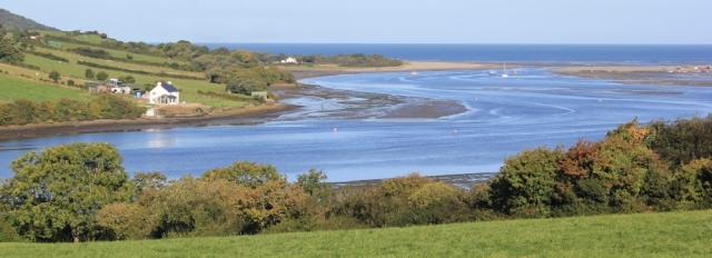 05 mouth ofAfon Teifi estuary, Poppit Sands, Ruth's coast walk in Wales