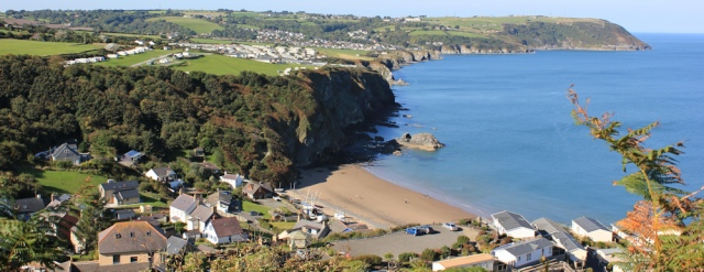 09 view back along coast to Tresaith and Aberporth, Ruth Livingstone