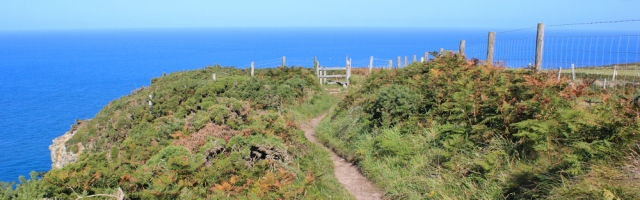 10 Cemaes Head, Ruth walking the Pembrokeshire Coast Path, St Dogmaels
