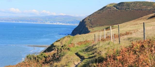 11 coast path to Borth, Ruth Livingstone walking the Wales coast