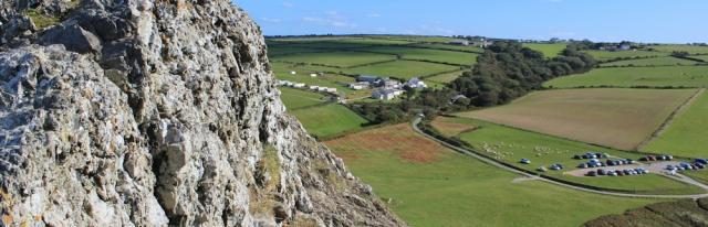 13 Foel-y-Mwnt, Ruth hiking in Wales