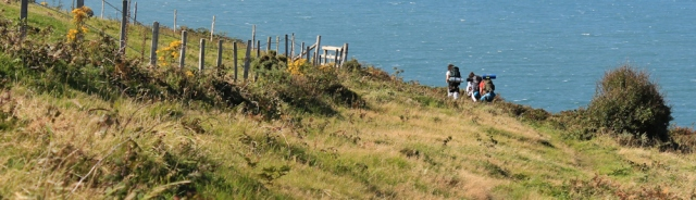 14 hikers on Pembrokeshire Coast Path, Ruth Livingstone