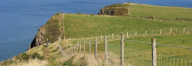 14 rollercoaster hills, Ruth hiking the coast path from Aberystwyth to Borth