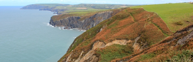 15 hiking the Pembrokeshire Coast Path towards Ceibwr Bay
