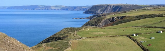 15 view east from Foel-y-Mwnt