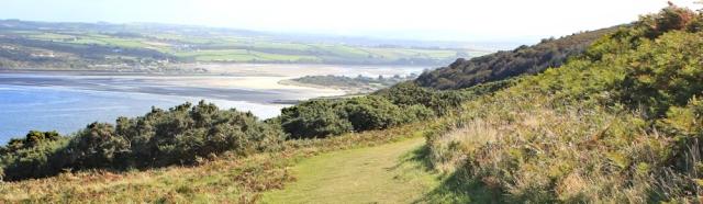 15 walking down towards Poppit Sands, Ruth's coastal walk