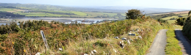 16 road walking to Poppit Sands, Ruth in Pembrokeshire