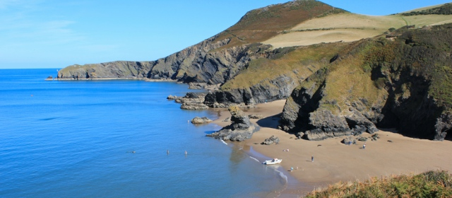 17 Llangrannog, Ruth Livingstone walking the coast in Wales