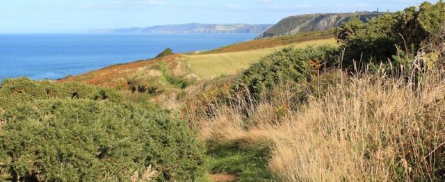 17 ruth walking to Aberporth, Ceredigion coast path