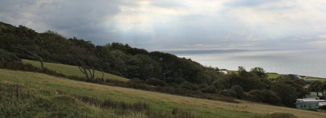 18 looking back to Aberaeron, Ruth's coastal walk, Wales