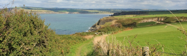 19 walking to Newport, Ruth on the Pembrokeshire Coast Path
