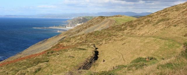 Ruth hiking to Aberystwyth