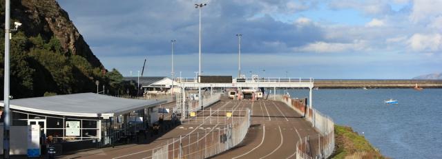 21 ferry port at Fishguard, Ruth's coastal walk