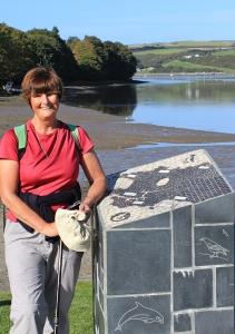 21 Ruth Livingstone, end of Pembrokeshire Coast Path