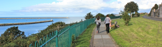 24 Marine Walk, Fishguard, Ruth hiking in Pembrokeshire
