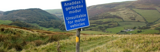 25 bridleway unsuitable for motor vehicles, Ruth on the Panoramic Walk, Aberdovey