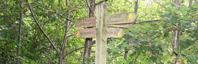 signpost, Ruth's coastal walk, Wales