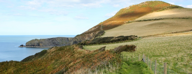 b01Pen-y-Badell near Llangrannog, Ruth Livingstone hiking the coast in Wales