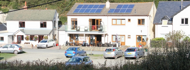 b17 cafe at Cwmtydu, Ruth's coastal walk in Wales
