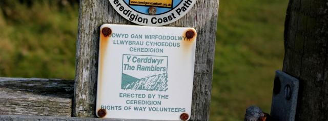 Ceredigion coast path volunteers