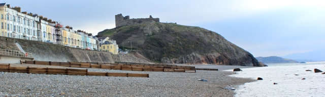 Criccieth and its castle, Ruth on the Wales Coast Path