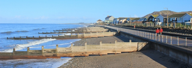 01 promenade at Tywyn, Ruth's coastal walk