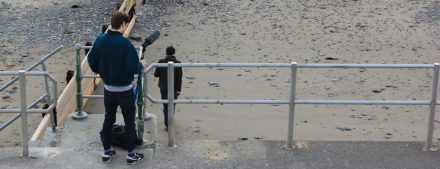 02 film making on Criccieth beach, Ruth Livingstone
