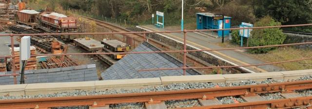 02 Minffordd network rail station, Ruth on the Wales Coast Path, Lleyn Peninsula