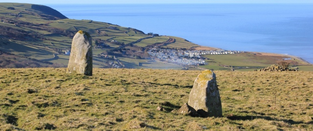 03 standing stones above Wales Coast Path, Ruth Livingstone