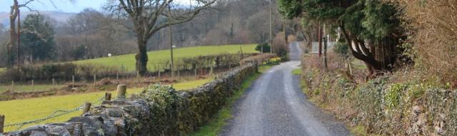 05 farm tracks, Ruth on the Wales Coast Path
