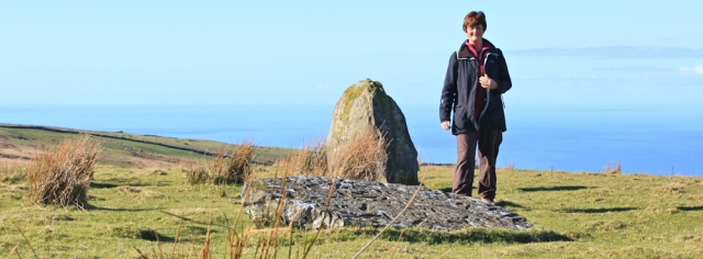 09 more standing stones, Ruth Livingstone on the Wales Coast Path