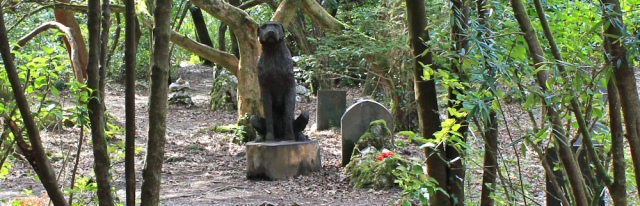 dog graveyard, Ruth Livingstone in Portmeirion