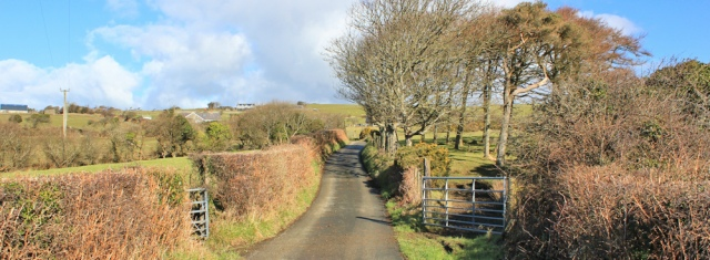 17 country lanes, Ruth on the Wales Coast Path, towards Llwyngwril