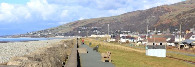 18 esplanade, Fairbourne, Ruth walking in Wales