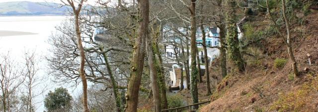 view down to Portmeirion, Ruth's coastal walk