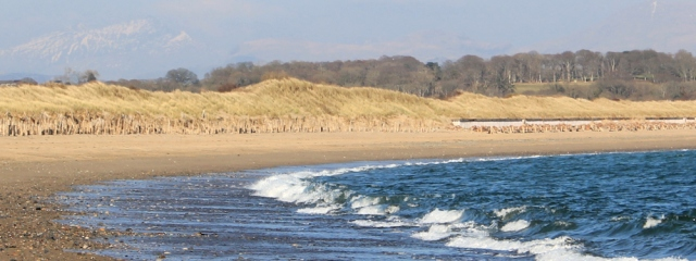 22 Snowdon, from Pwllheli beach, Ruth Livingstone