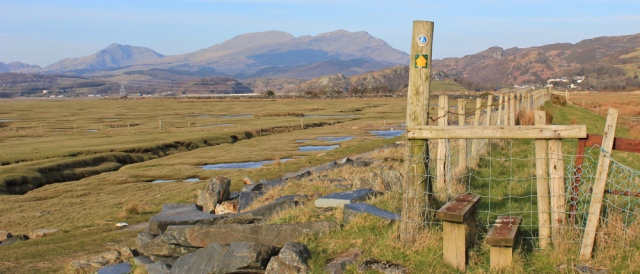 26 Welsh coast path along bank of Afon Dwyryd, Ruth in Wales