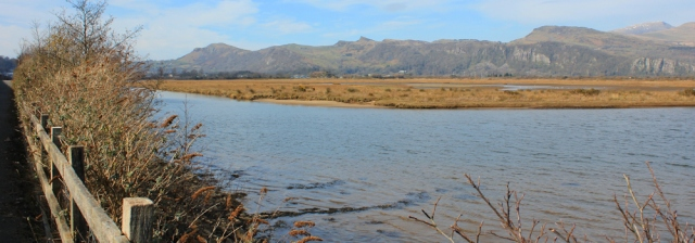 a09 long causeway, Ruth on the Wales Coastal Path, Porthmadog
