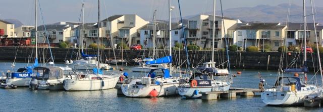 a12 marina at Porthmadog, Ruth's coast walk