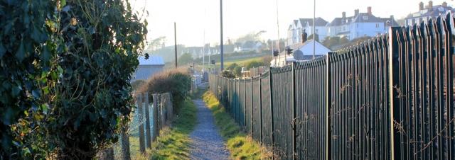 a23 approach to Criccieth, Ruth's coastal walk, Lleyn peninsula