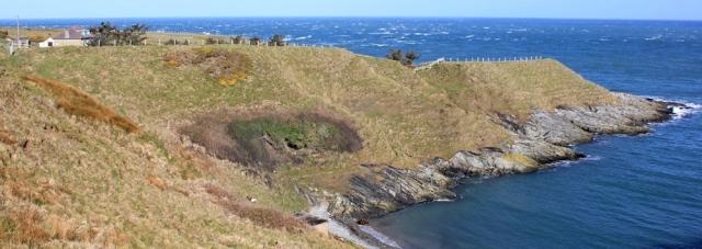 01 Porth Ferin, Ruth walking the coast, Lleyn Peninsula
