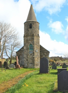02 Llandegwring church, Ruth walking the Llyn Peninsula, Wales