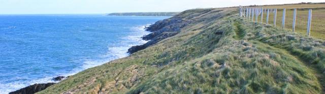 02 Llyn Coast Path, Ruth Livingstone hiking in Wales