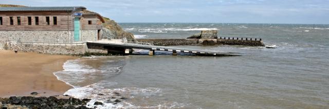 06 lifeboat station, Porth Dinllaen, Morfa Nefyn, Ruth walking the Llyn Coastal Path