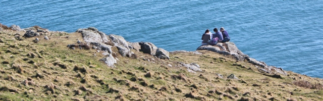 06 Pen y Cil, fellow hikers, Ruth's coastal walk, Wales
