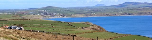 07 Aberdaron from Pen y Cil, Ruth's coastal hike, Wales