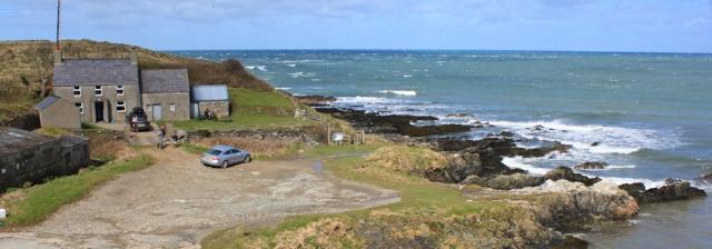 07 Porth Colmon, Ruth walking the Wales Coast Path, Llyn